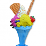 Poubelle - Coupe glace fruits chantilly gaufrette - 205 cm
